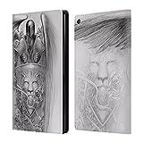Head Case Designs Offizielle La Williams Engelstatue Königreich Brieftasche Handyhülle aus Leder für Amazon Fire HD 8
