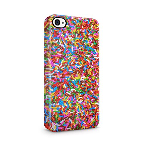 I Wish You Were A Macaron Quote Rainbow Macarons Pattern Apple iPhone 5 , iPhone 5S , iPhone SE Snap-On Hard Plastic Protective Shell Case Cover Custodia Candy Sprinkles