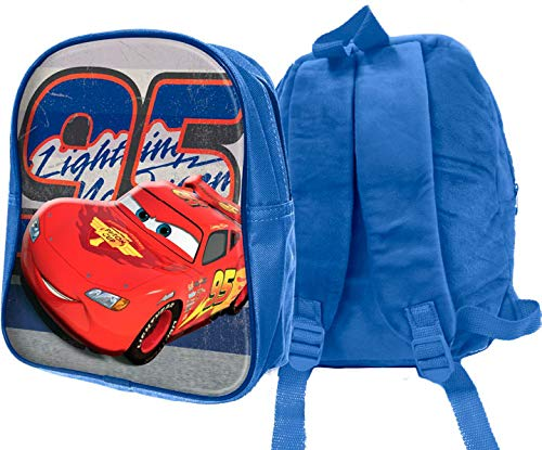 mc Zaino Peluche 3D Cars Zainetto per Bambini, 32 cm, Blu