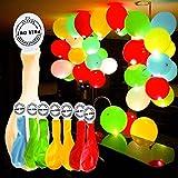 GHB 50 Pcs Globos Led Colores Globos Luz para Fiesta Boda Fiesta Cumpleaños Navidad Reunión Ceremonia