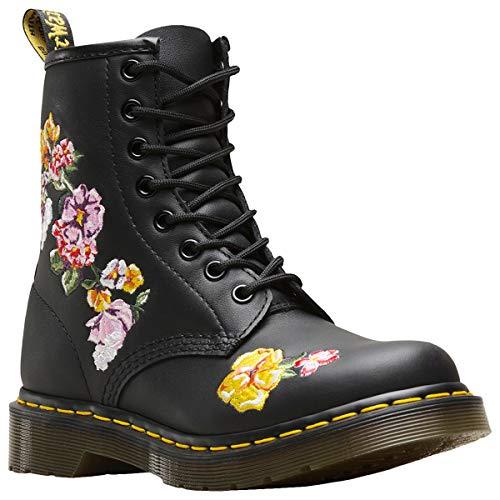 Dr. Martens 1460 FINDA 2 Softy T Women Boots Black Floral, Numero di Scarpe:EUR 38