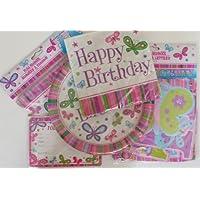 Butterflies Happy Birthday Party Pack - Invitations, Plates, Napkins, Birthday Banner, Flag Banner by Greenbriar preisvergleich bei billige-tabletten.eu
