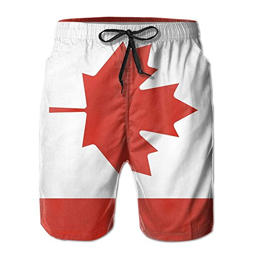 Comfort&products Flag of Canada Summer Quick-Drying Board Short Beach Pants for Men (Die Boards-of-canada)