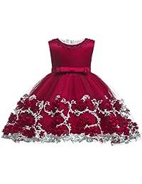 fc3a5e3d75 LZH Vestido Formal de Niña Bautizo Bautizo Princesa Boda Vestido de  Cumpleaños