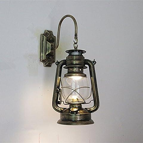 Antique Iron Wall personnalité rétro 45cm haut escalier lampe lampe de courrier 28cm * 18cm base 16cm * 8cmE27 (sans source) Bronze sans projecteurs