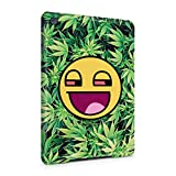 Stoned Smiley Stoner Vaper Face Smoke Weed Pattern Hard Thin Plastic Tablet Case Cover For iPad Mini 1