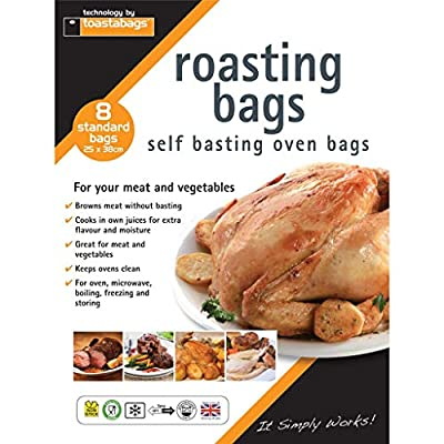 Toastabags Standard Roasting Bags, Transparent, 25 x 38 cm, Pack of 8-P : everything five pounds (or less!)