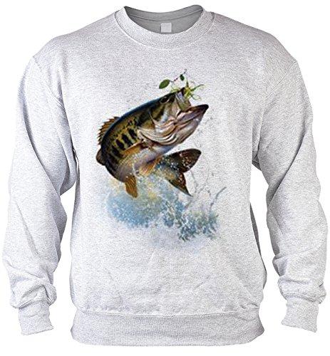 Sweater Fish and hook Angler Pullover für Fischer Artikel für Angler angeln Fischer Artikel für Männer Angelprodukte Produkt zum Fischen Gr: XL