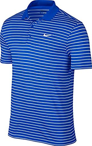 Nike Victory LC-Mini Stripe Polo à manches courtes pour homme L Azul Oscuro / Blanco / Gris