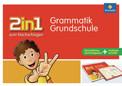 Preisvergleich Produktbild 2in1 zum Nachschlagen - Grundschule: Grammatik