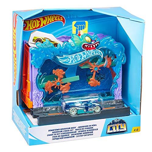 Hot Wheels City Pista de coches Aquarium (Mattel FRH32)
