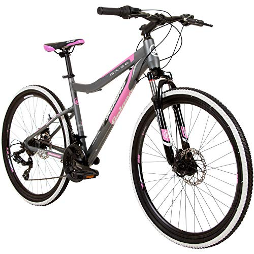 Galano GX-26 26 Zoll Damen/Jungen Mountainbike Hardtail MTB (grau/pink, 44cm) -