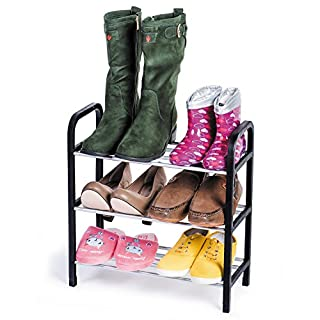 ArtMoon Calgary Shoe Rack 3 Tier Reliable Plastic 42X19X44 cm