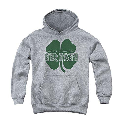 erblättriges kleeblatt irland groß hoodie zu sein für Jungen Groß Grau (Alles Über Saint Patrick)
