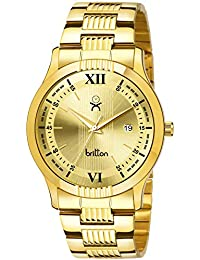 BRITTON Day and Date Display Analogue Gold Dial Men's Watch -BR-GR452-GLD-GLD