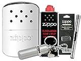 Zippo Handwarmer / Handwärmer / Taschenofen Chrome Poliert mit Zippo Zubehör Auswahl und L.B Chrome Stabfeuerzeug (mit Zubehör B)