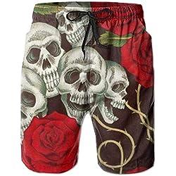 wwoman Pantalones cortos para hombre tabla de surf en la playa de baño