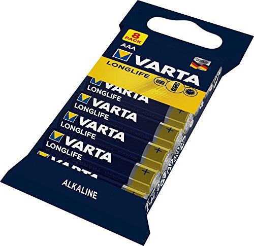 VARTA Longlife Batterie AAA Micro Alkaline Batterien LR03, 8er Pack -