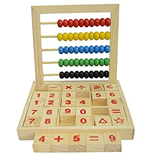 Colorful Beads Wooden Abacus Mathematics Educational Counting Number Blocks Maths Toys for Kids