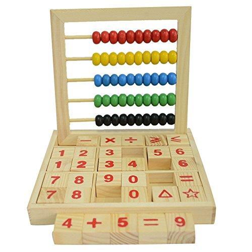 Coloridas Cuentas ábaco matemáticas educativo de matemáticas con Counting número bloques de...