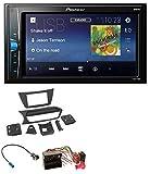 caraudio24 Pioneer MVH-A100V 2DIN MP3 USB Aux Autoradio für Mercedes C-Klasse 2011-2013