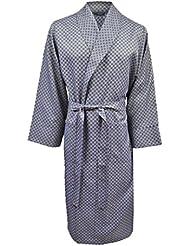 Lloyd Attree & Smith - Robe de Chambre Légère - Bleu Marine Assorti - Homme