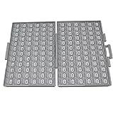 Widerstand-Set, 1%, SMD SMT 0805 Größe, 144 Werte, Aufbewahrungsbox mit Fächern, alle E96 Serien von 0Ω bis 10M, inklusive Pinzette, 100 Stück / Wert