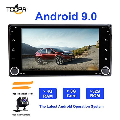Android Autoradio Stereo, ZLTOOPAI Für Toyota Land Cruiser 100 200 Prado 120 150 Ansturm Corolla Hiace Yaris Hilux Android 9,0 Octa Core 4G RAM 32G ROM HD Multi-Touchscreen Auto In Dash GPS Radio
