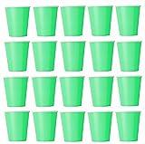 50 x Becher hellgrün Einwegbecher für Kaltgetränke und Heißgetränke aus Pappe umweltfreundlich, Hochzeit, Geburtstag, Kaffeebecher, Picknick, Garten, Party, Grillen