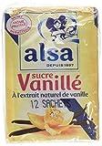 Alsa Sucre Vanillé à Extrait Naturel de Vanille x12 Sachets 90g - Lot de 4