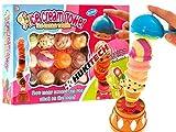 Ice Cream Tower - Geschicklichkeitsspiel mit hohem Spaßfaktor wie Affenspiel Kroko Doc Eismann Supermarkt Spiel Eismaschine Eisbecher Kaufmannsladen Kaufladen Einkaufswagen für Kinder Spielküche Familienspiel