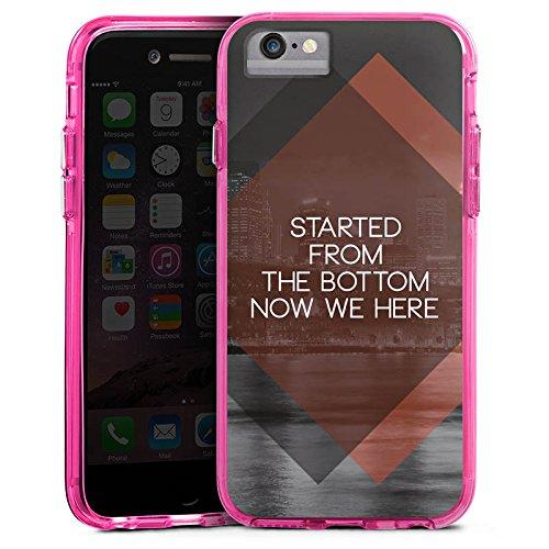 Apple iPhone 6s Bumper Hülle Bumper Case Glitzer Hülle Sprüche Sayings Phrases Bumper Case transparent pink