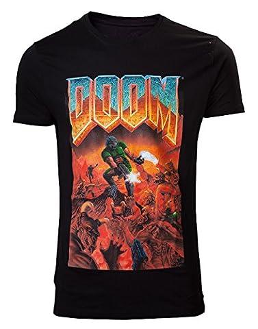 L Officiel Art - DOOM T-Shirt -L- Box Art, schwarz [import