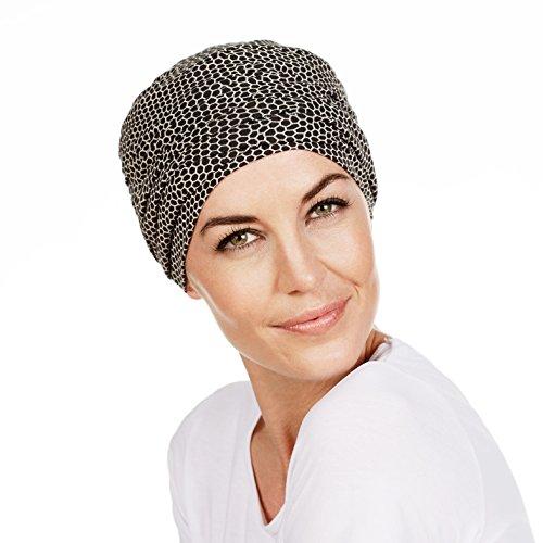 turban-chimiotherapie-karma-compose-dun-bonnet-un-bandeau-amovible-en-bambou-imprime-noir-et-blanc