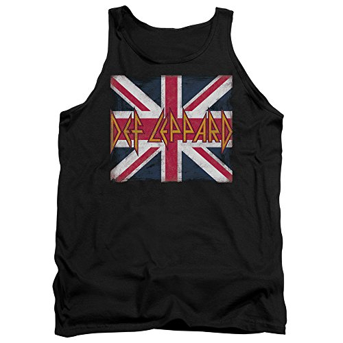 Def Leppard - Herren-Union Jack Tank Top Black