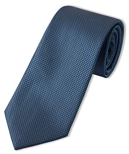 Puccini XXL Krawatte Herren, strukturiert, einfarbig, verschiedene Farben, Krawatte Überlänge, Satin-Glanz, Mikrofaser, 8,5 cm, Handarbeit, Dunkelblau, 160 cm lang, 8,5 cm breit