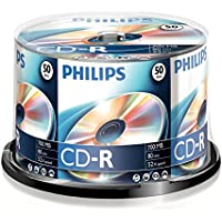 Philips CD-R Rohlinge (700 MB Data/80 Minuten, 52x High Speed Aufnahme, 50er Spindel)