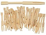 Bamboo Party Forks for Party Buffet Mini...