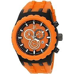 Joshua & Sons JS59OR - Reloj de pulsera hombre, Silicona, color Naranja