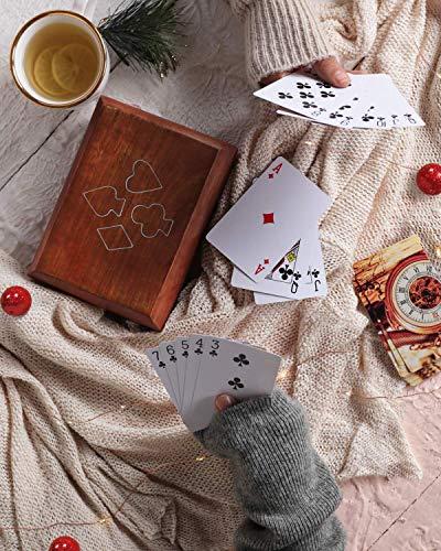 Handgefertigte dekorative Spielkarten aus Holz Aufbewahrungsbox/Spielkartenhalter Box Spieletui mit 2 Kartenspielen (Ace collection) - Neujahr & Valentines Geschenke von Storeindya