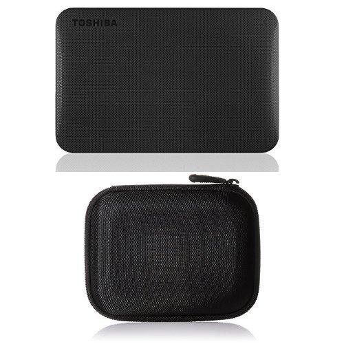 Toshiba Canvio Ready 1TB Externe Festplatte (6,4 cm (2,5 Zoll) USB 3.0) schwarz & AmazonBasics Festplattentasche, schwarz