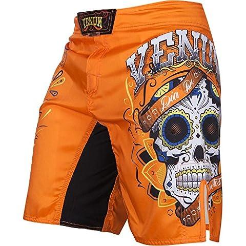 Venum, Pantaloni corti da allenamento Uomo Santa Muerte 2.0, Arancione (Orange), M