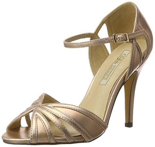 Buffalo Shoes Damen RK 1212-99 Metallic PU Knöchelriemchen, Mehrfarbig (Rose 23), 37 EU