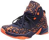 ASHION Sportive Scarpe da Basket Uomo Sneaker(Blu/Arancione EU43)