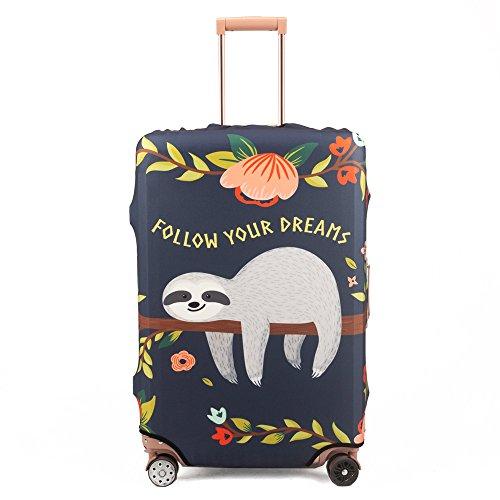Maddy's Home Nette Gepäck-Schutzhülle Kofferabdeckung Katze für 23-32 Zoll Koffer (Sloth, L (Fit 26'-28' Suitcase))