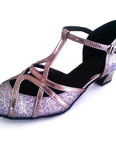ShangYi Maßgefertigter Absatz - Kunstleder/Glitter - Latin/Modern/Salsa/Standard-Tanz Schuhe - Damen Pink