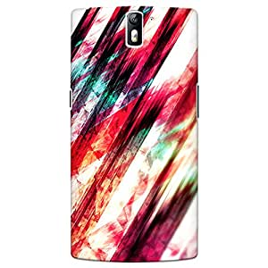 CrazyInk Premium 3D Back Cover for Oneplus One - Grungy Abstract Lines