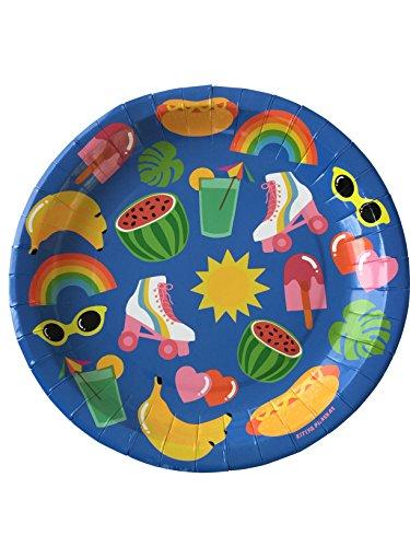 InviteMe 10 Farbenfrohe Papp-Teller aus der Serie