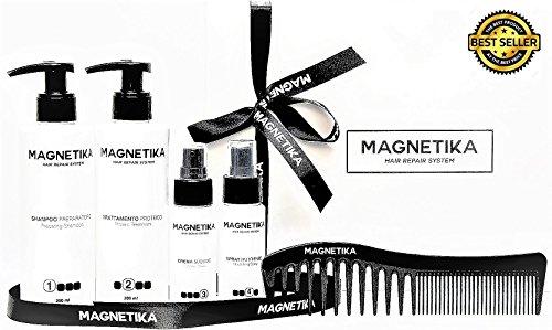 MAGNETIKA -Tratamiento reparador para el cabello - Pack (Lote 4 piezas