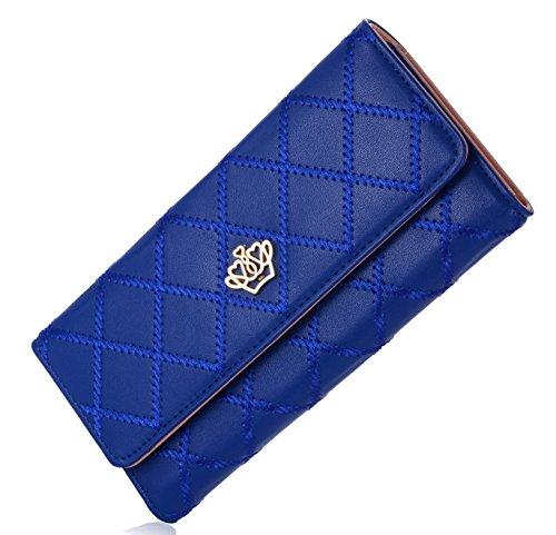 Element Finder (Damen Elegant Stilvoll Portemonnaie Geldbörse Krone PU-Leder Geldbeutel)